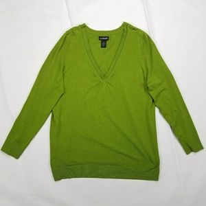 Lane Bryant V-Neck  Soft and Cozy Green Sweater